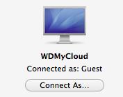 WDMyCloud Connect As