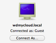 smb wdmycloud.local Connect As